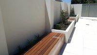 Inbuilt Timber seating and Landscape Design