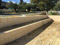 Limestone Retaining Wall and Steps Perth