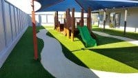 Artificial Turf Installation in an Outdoor Dog Training Ground