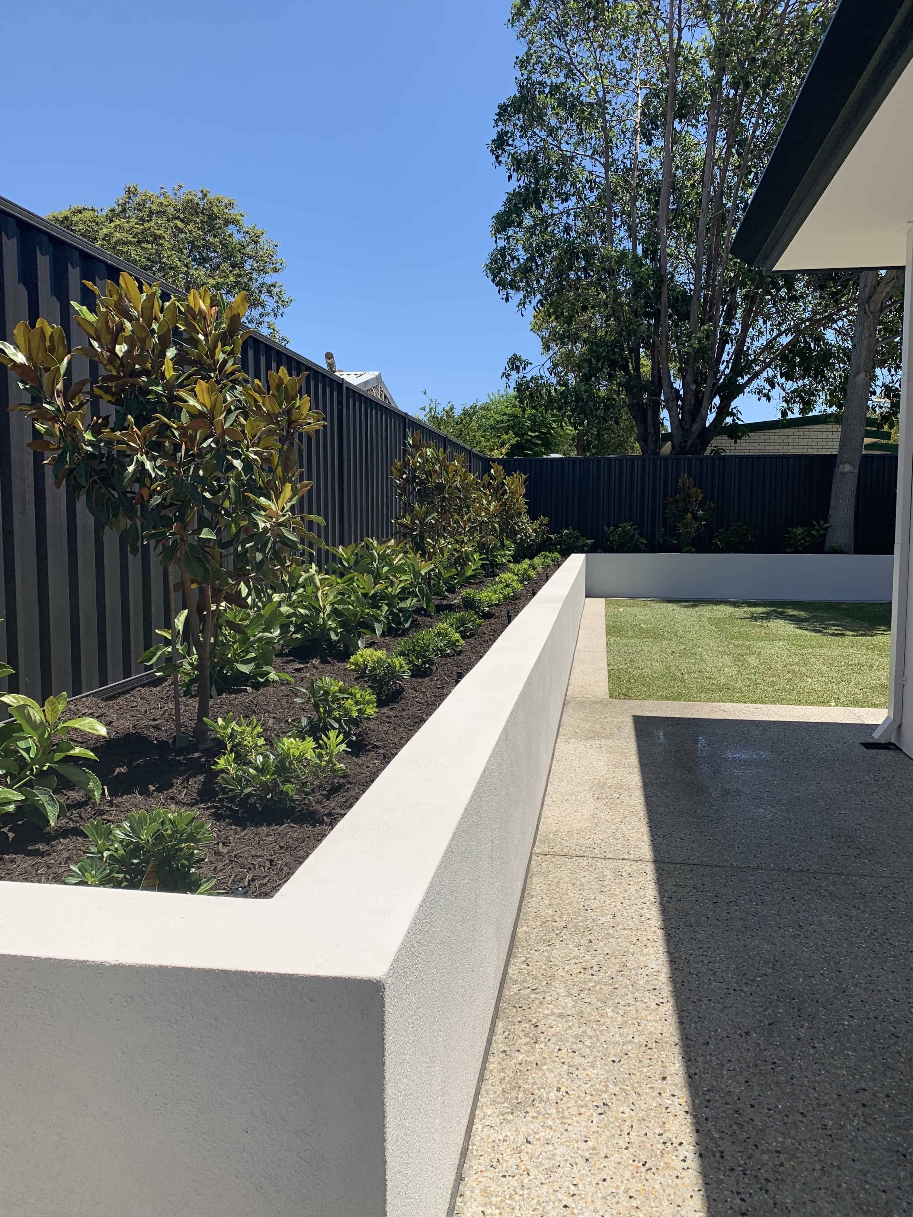 Cement Retaining Wall and Planting Ideas