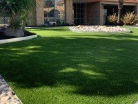 Close up view of Synthetic Grass for Garden Landscape