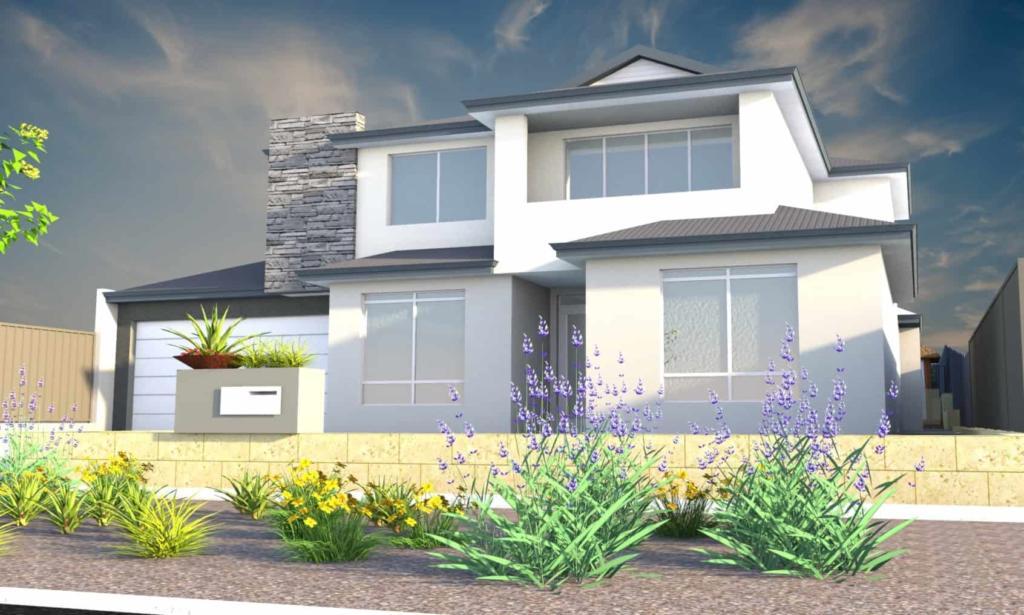 Two-storey Residential Home Backyard Landscape Design