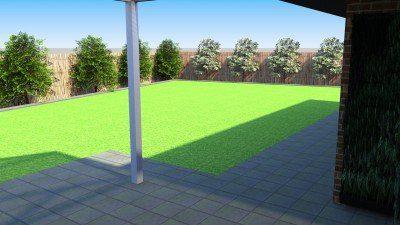 Backyard Lush Green Lawn Installation