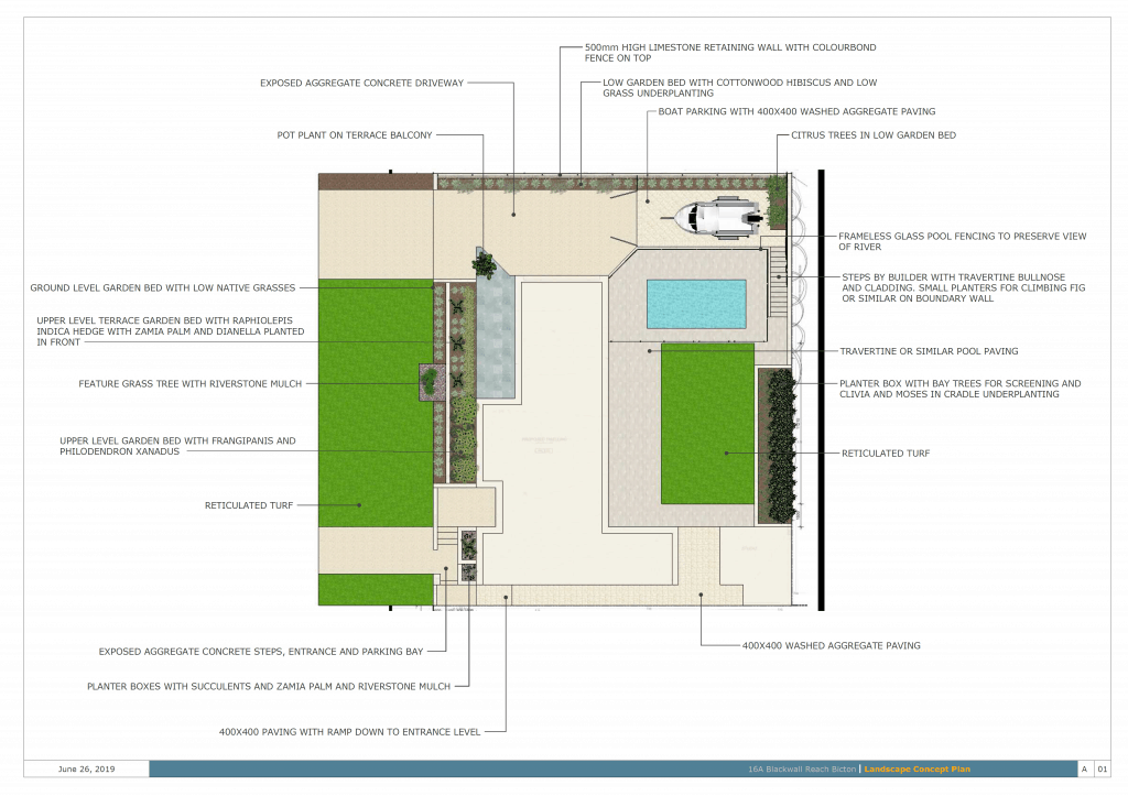 Detailed Full Residential Landscape 2D Design Services