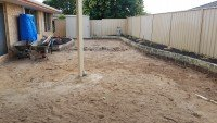 Excavated Residential Lawn for New Landscape Installation